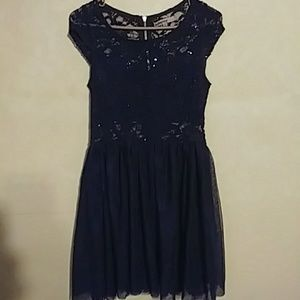 Gorgeous navy blue lace dinner/formal dress